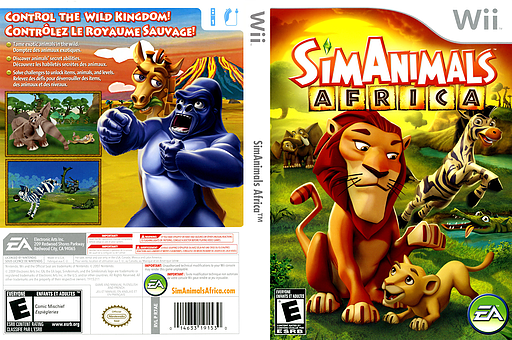 SimAnimals Africa Wii cover (R7AE69)