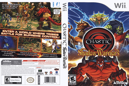 Chaotic: Shadow Warriors Wii cover (R7QE52)