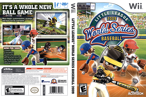 Little League World Series Baseball 2009 Wii cover (R7RE52)