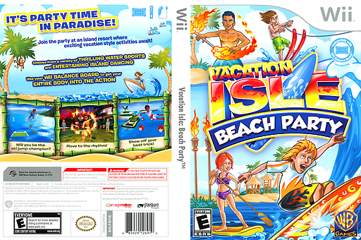 Vacation Isle: Beach Party Wii cover (R7VEWR)