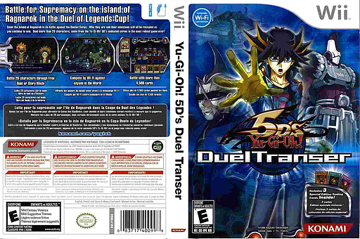Yu-Gi-Oh! 5D's: Duel Transer Wii cover (R8DEA4)