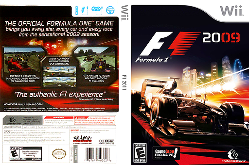 F1 2009 Wii cover (R9FE36)