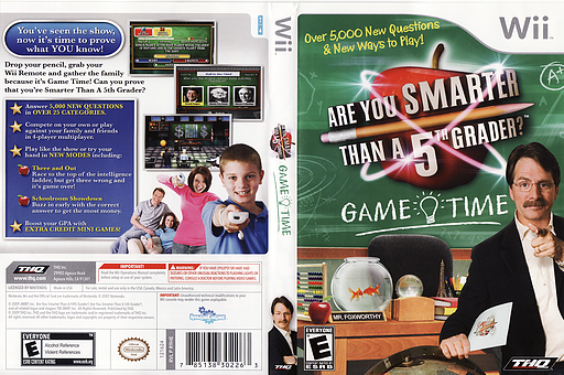 Are You Smarter Than A 5th Grader? Game Time Wii cover (R9HE78)