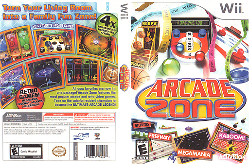 Arcade Zone Wii cover (R9XE52)