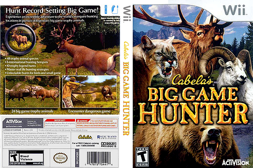 Cabela's Big Game Hunter Wii cover (RCBE52)