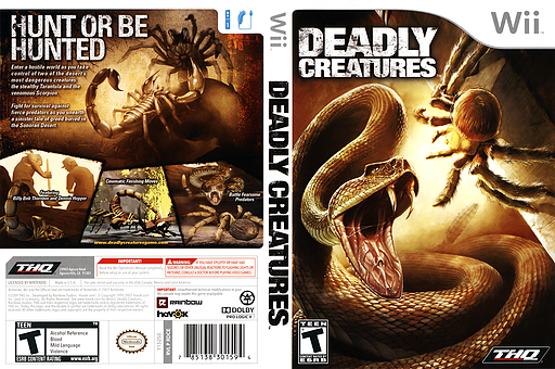 Deadly Creatures Wii cover (RDCE78)