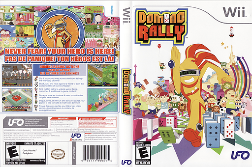 Domino Rally Wii cover (RDME6K)