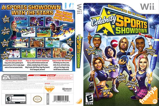 Celebrity Sports Showdown Wii cover (REAE69)
