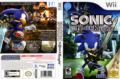 Sonic and the Black Knight Wii cover (RENE8P)