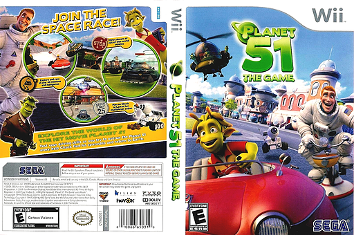 Planet 51: The Game Wii cover (RGAE8P)