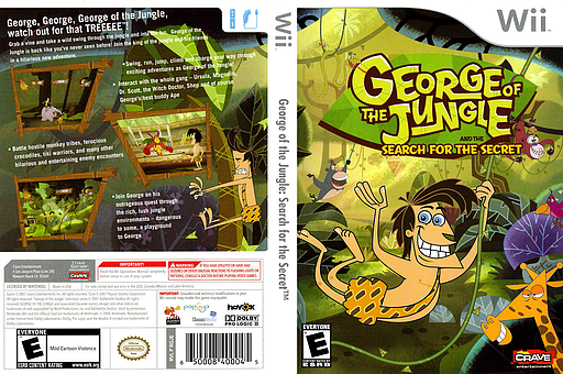 George of the Jungle: Search for the Secret Wii cover (RGJE4Z)