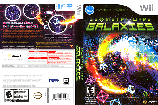 Geometry Wars: Galaxies Wii cover (RGLE7D)
