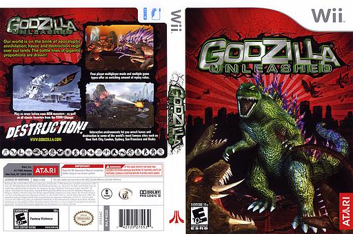 Godzilla Unleashed Wii cover (RGZE70)