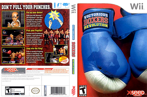 Victorious Boxers: Revolution Wii cover (RHIEXJ)