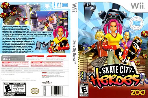 Skate City Heroes Wii cover (RHUE20)
