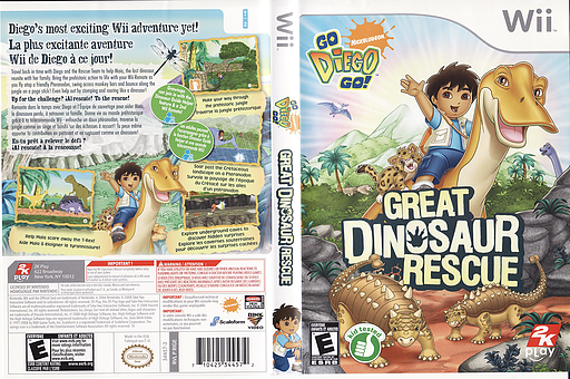 Go, Diego, Go! Great Dinosaur Rescue Wii cover (RIGE54)