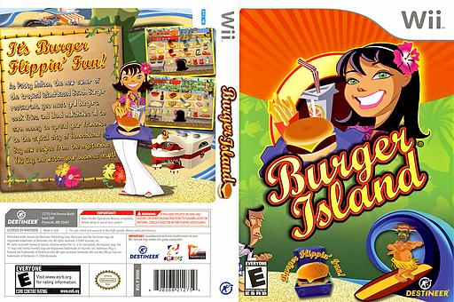 Burger Island Wii cover (RIWENR)