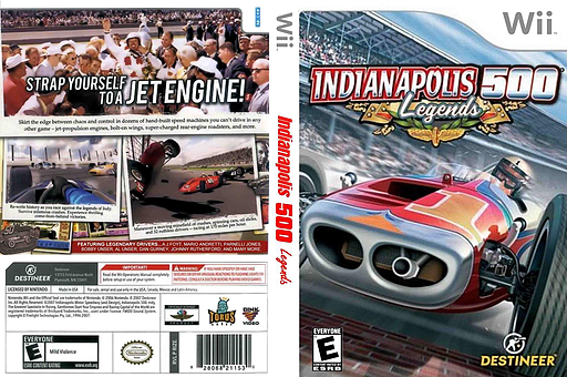 Indianapolis 500 Legends Wii cover (RIZENR)