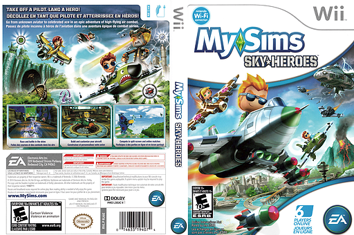 MySims Sky Heroes Wii cover (RJ6E69)
