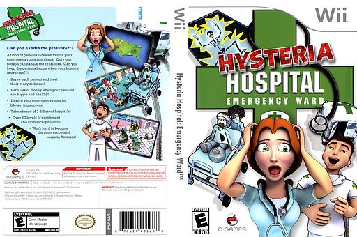 Hysteria Hospital: Emergency Ward Wii cover (RJVEGN)