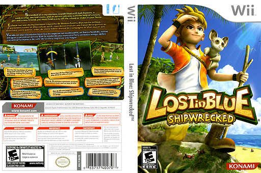 Lost in Blue: Shipwrecked Wii cover (RKZEA4)