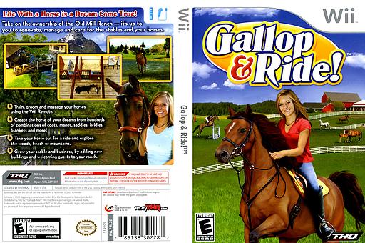 Gallop & Ride! Wii cover (RL2E78)