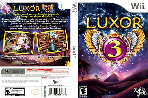 Luxor 3 Wii cover (RL3EMJ)