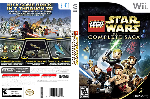 LEGO Star Wars: The Complete Saga Wii cover (RLGE64)