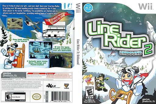 Line Rider 2: Unbound Wii cover (RLJEHJ)