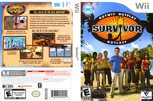 Survivor Wii cover (RLNEVN)