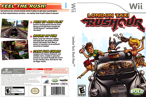 London Taxi: Rush Hour Wii cover (RLTENR)