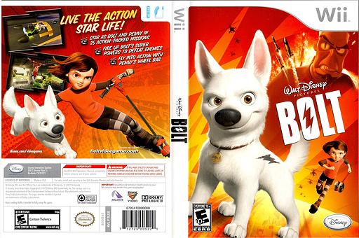 Disney's Bolt Wii cover (RLUE4Q)