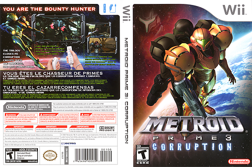 Metroid Prime 3: Corruption Wii cover (RM3E01)