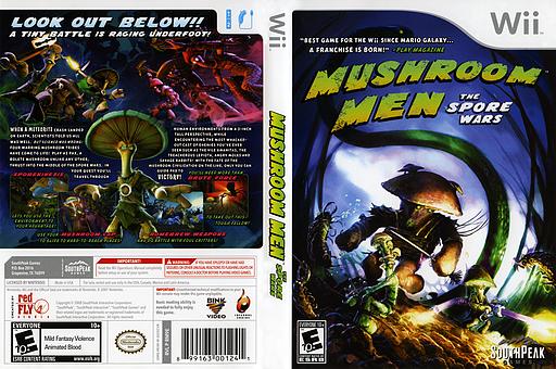 Mushroom Men: The Spore Wars Wii cover (RM9EGM)