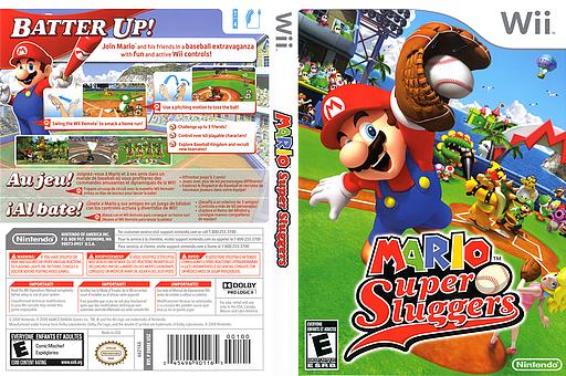 Mario Super Sluggers Wii cover (RMBE01)