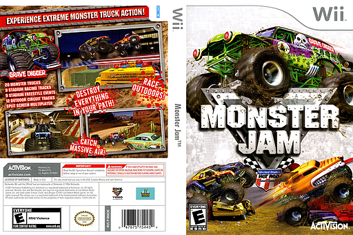 Monster Jam Wii cover (RMOE52)