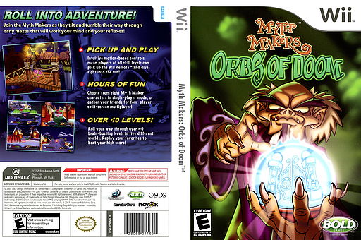 Myth Makers: Orbs of Doom Wii cover (RMQENR)
