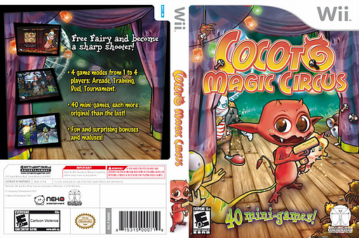 Cocoto Magic Circus Wii cover (RMRE5Z)