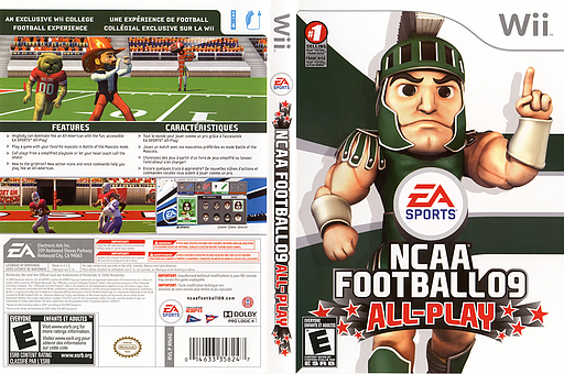 NCAA Football 09 Wii cover (RNAE69)