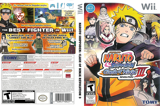 Naruto Shippuden: Clash of Ninja Revolution 3 Wii cover (RNEEDA)