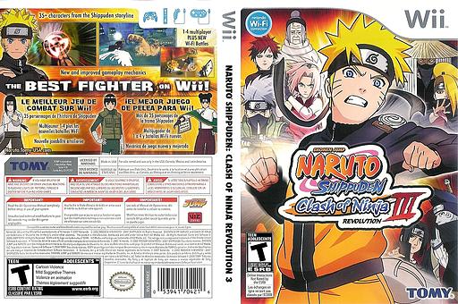 Naruto Shippuden: Clash of Ninja Revolution 3 Wii cover (RNEEDA)