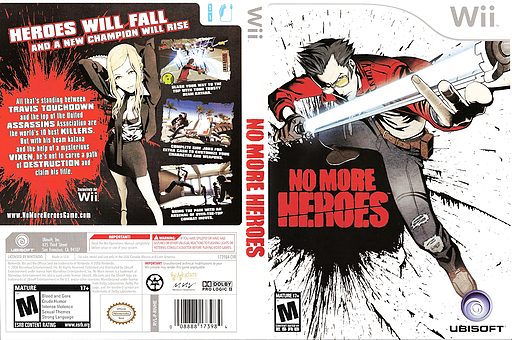 No More Heroes Wii cover (RNHE41)