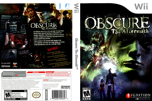 Obscure: The Aftermath Wii cover (ROBE7U)