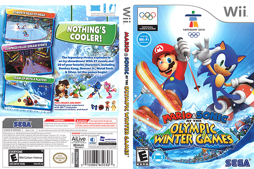 Mario & Sonic at the Olympic Winter Games Wii cover (ROLE8P)