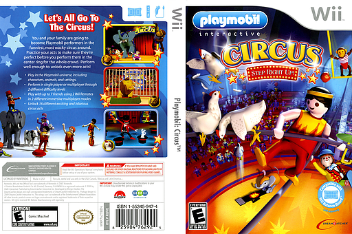 Playmobil: Circus Wii cover (ROVE6U)