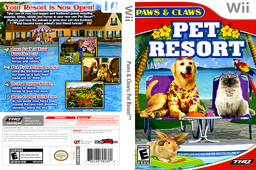 Paws & Claws: Pet Resort Wii cover (RPNE78)