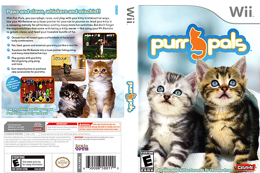 Purr Pals Wii cover (RPVE4Z)