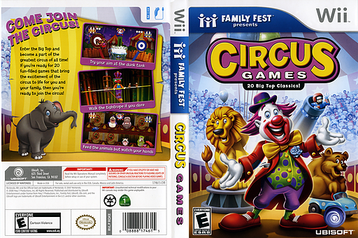 Circus Games Wii cover (RQKE41)