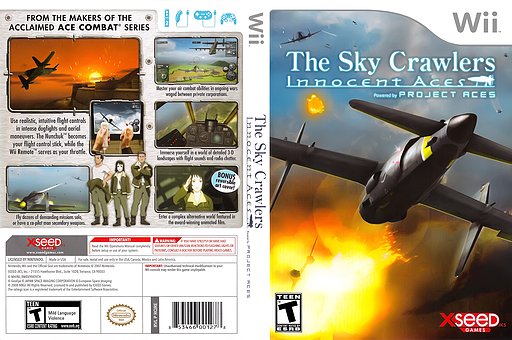 The Sky Crawlers: Innocent Aces Wii cover (RQREXJ)