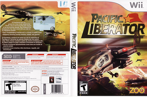Pacific Liberator Wii cover (RQVE20)